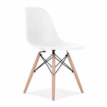 Cadeira Charles Eames Wood Eiffel - Brancabranca