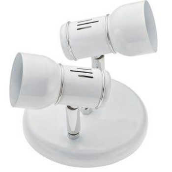 Luminária Spot Alumínio 2xe27 Versátil Branco 423/2 Dital