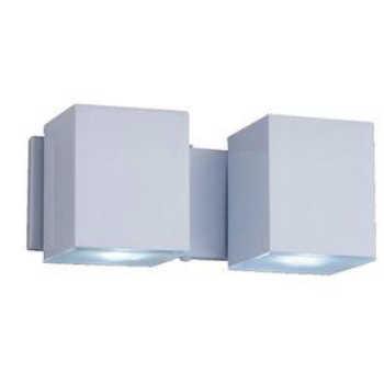 Arandela Alumínio 2xgu10 Cube Articulada Bca A-92 Br Ideal