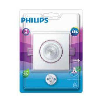 Luminária Spot Led Embutir Philips Policarbonato Quadrado 5w 6500k