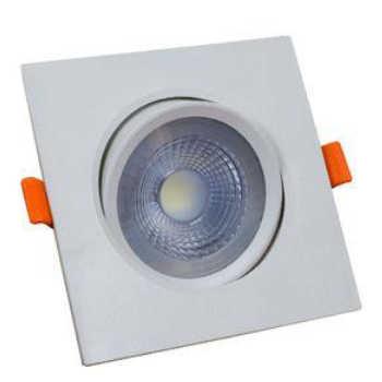 Luminária Spot Led Embutir Bronzearte Easy Quadrado 5w 6400k 9,5x9,5cm