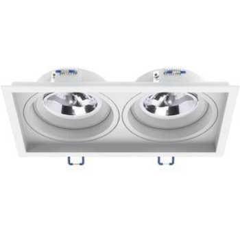 Spot Embutir Interlight Ba15d 2xar70 Recuado Branco