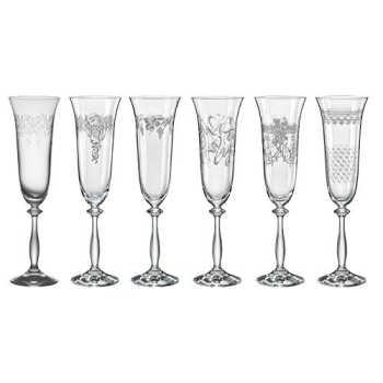 Jogo 6 Taças Champagne Angela Royal 190ml