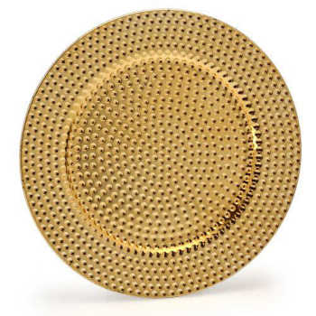 Sousplat Trabalhado Dourado 33cm - Natal
