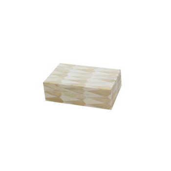 Caixa Decorativa Bege Pequena Estalactite