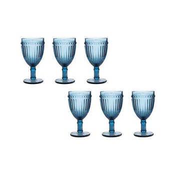 Jogo 6 Taças Para Água Azul Empire 320ml - Lyor