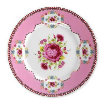 Prato De Porcelana Para Pão Rosa Floral - Pip Studio