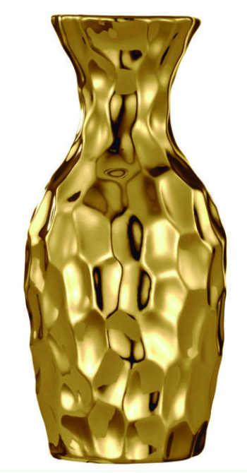 Vaso Ceramica Dourada