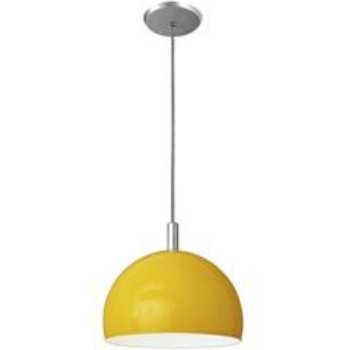 Pendente De Vidro 12x19cm Amarelo