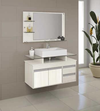 Conjunto Style Suspenso - 100cm (balcão+espelheira+cuba)