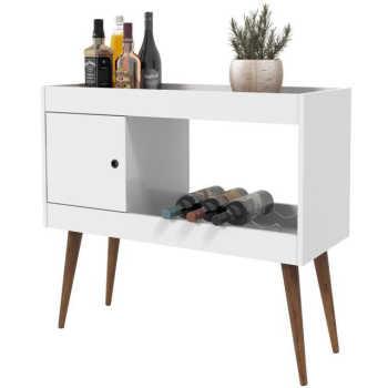 Aparador Bar / Adega Brilhante - Branco Brilho - Rpm Móveis