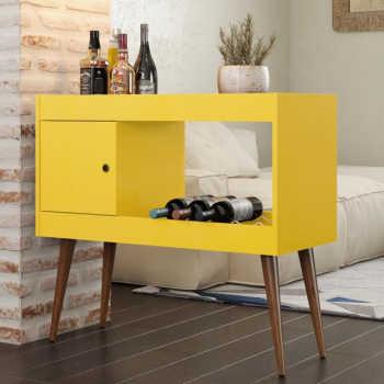 Aparador Bar / Adega Brilhante - Amarelo - Rpm Móveis