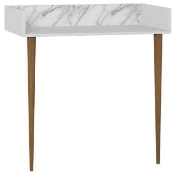 Aparador Para Sala De Estar Retrô Branco Carrara - Be Mobiliário