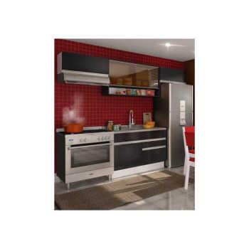 Cozinha Compacta Glamy Marina Branco/ébano/preto - Madesa