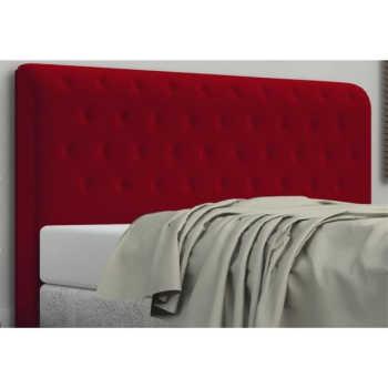 Cabeceira Brenda Para Cama Box Queen Size 160 Cm Com Botonê Veludo Molhado L02 Vermelho - Bremol