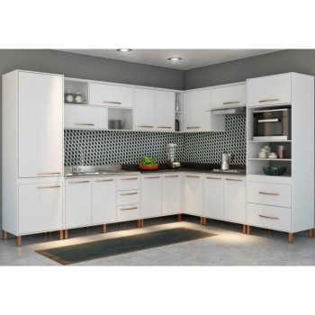 Cozinha Modulada 10 Peças Baunilha Branco - Albatroz