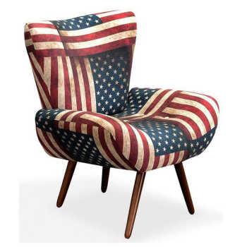 Poltrona Decorativa Jaspe Pés Palito Estados Unidos - Konfort