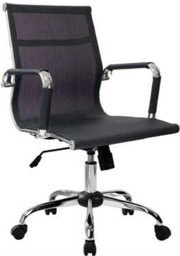 Cadeira Esteirinha Eames Tela Preta