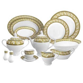 Aparelho De Jantar Em Porcelana Duor 84 Peças