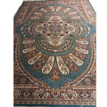 Tapete Estilo Persa Com Medalhão Ornamentado Tabriz 3,5x2,5m
