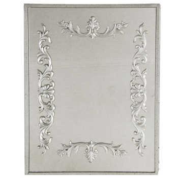 Espelho Estilo Veneziano Clássico Com Detalhes Prata