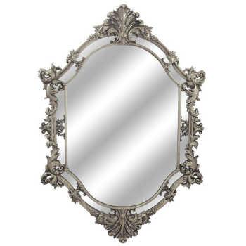 Espelho Grande Em Madeira E Pintura Dourada Envelhecida