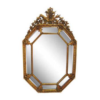 Espelho Moldura Dourado Clássica Estilo Francês Luiz Xv