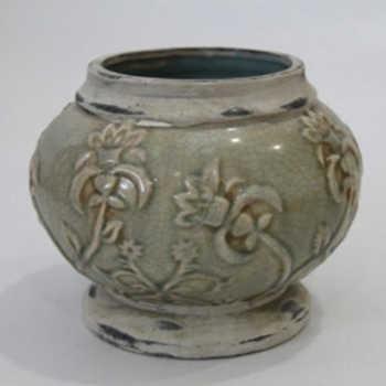 Cachepot Em Cerâmica Com Auto Relevo Modelo 01