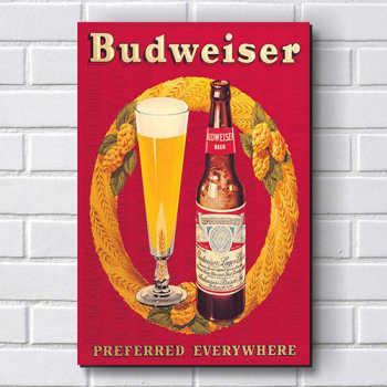 Placa Decorativa P112 - Cerveja Budweiser