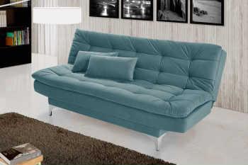 Sofá Cama Casal Prático Azul Turquesa