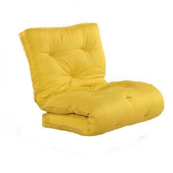 Futon Colchão Japonês Solteiro Amarelo