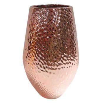 Vaso De Cerâmica Cobre Texturizado