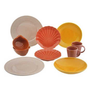 Aparelho De Jantar Com 10 Peças Em Cerâmica Coleção Especiarias Rita Lobo