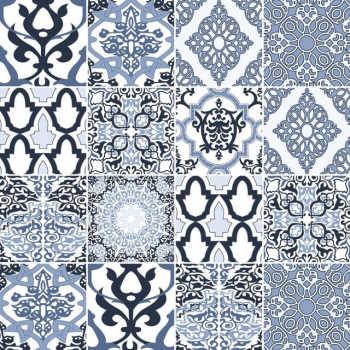Papel De Parede Adesivo Azulejo Portugues 061