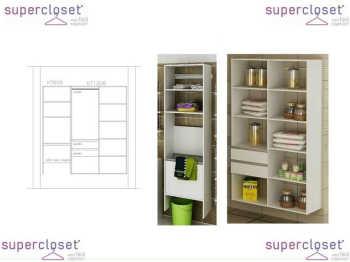 Conjunto Completo Para Closet E Lavanderia 02 Branco - Getama Moveis