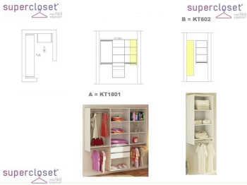 Conjunto Completo Para Closet 04 Branco - Getama Moveis