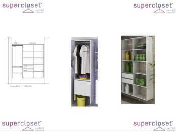 Conjunto Completo Para Closet E Lavanderia 05 Branco - Getama Moveis