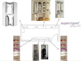 Conjunto Completo Para Closet 12 Branco - Getama Moveis