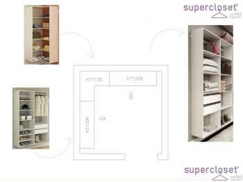 Conjunto Completo Para Closet 16 Branco - Getama Moveis