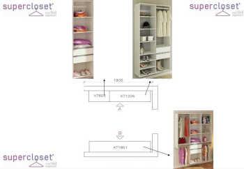 Conjunto Completo Para Closet 20 Branco - Getama Moveis