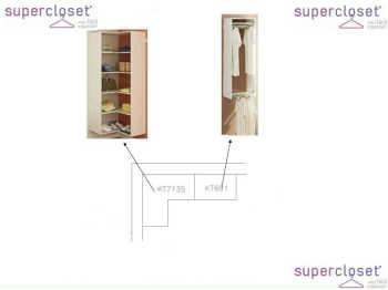 Conjunto Completo Para Closet 22 Branco - Getama Moveis