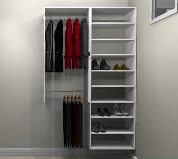 Conjunto Completo Para Closet 24 Branco - Getama Moveis