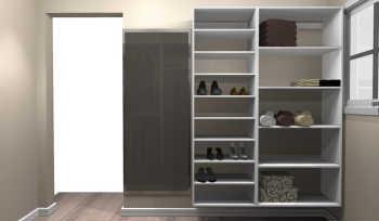 Conjunto Completo Para Closet 27 Branco - Getama Moveis