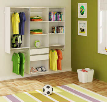 Módulo Closet Sem Portas Kt1801 Branco  - Getama Móveis