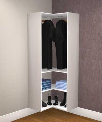 Closet De Canto Com Cabideiro E Prateleiras Kt6801 -  Getama Móveis