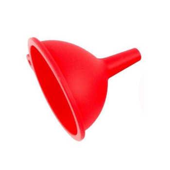 Funil De Silicone Vermelho 10cm - 15177