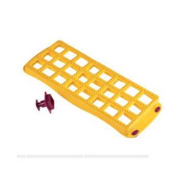 Forma Para Ravioli Com Cortador Metaltex Amarelo 26x6,5cm - 22852