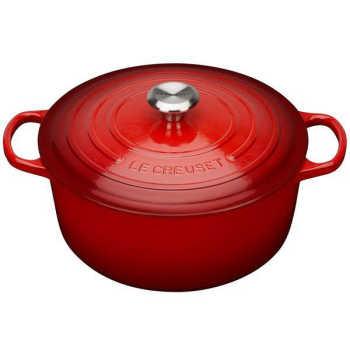 Panela Redonda Le Creuset Signature Vermelho Ferro 22cm - 25041