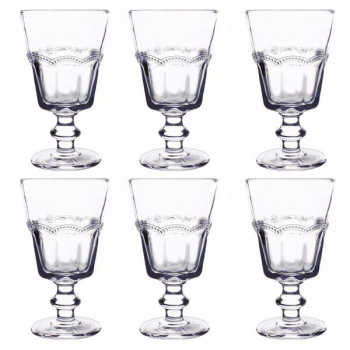 Conjunto De Taças Clear Vidro 6 Peças 180ml - 29805