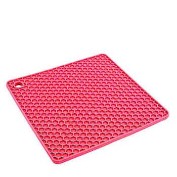 Descanso De Panela Vermelho Silicone 17cm - 30341